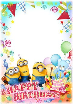 Happy birthday wishes by Minions