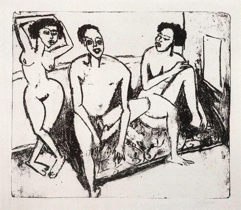 Ernst-Ludwig-Kirchner-Three-naked-niggers