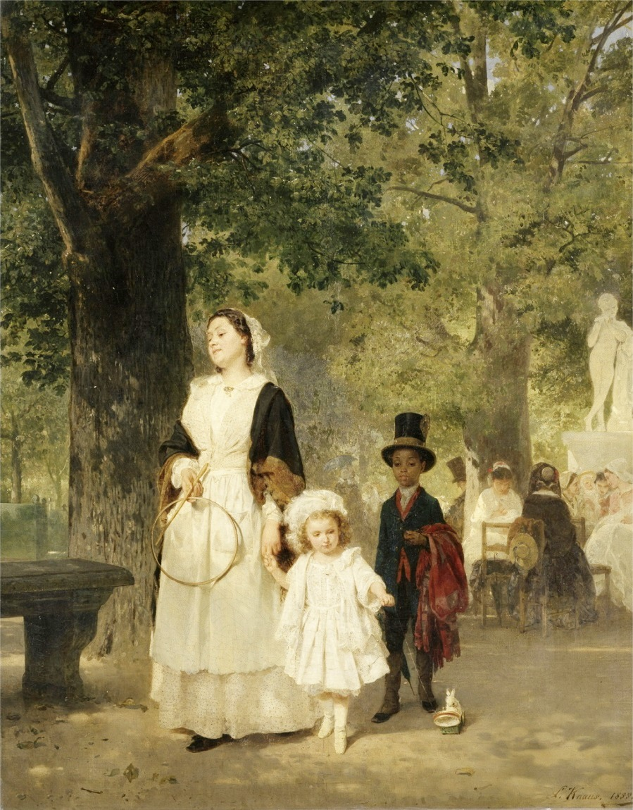 Promenade in the Tuileries Gardens, 1855 (oil on canvas)