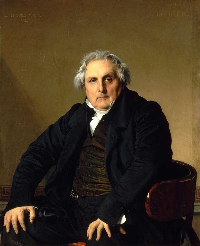 Jean Auguste Dominique Ingres, Portrait of Louis-François Bertin 1832